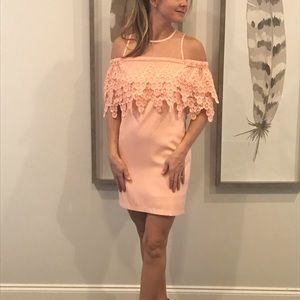 Endless Rose off the shoulder pink dress sz small